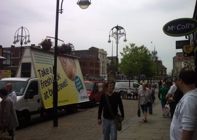 Arriva AdVan promoting new rural route