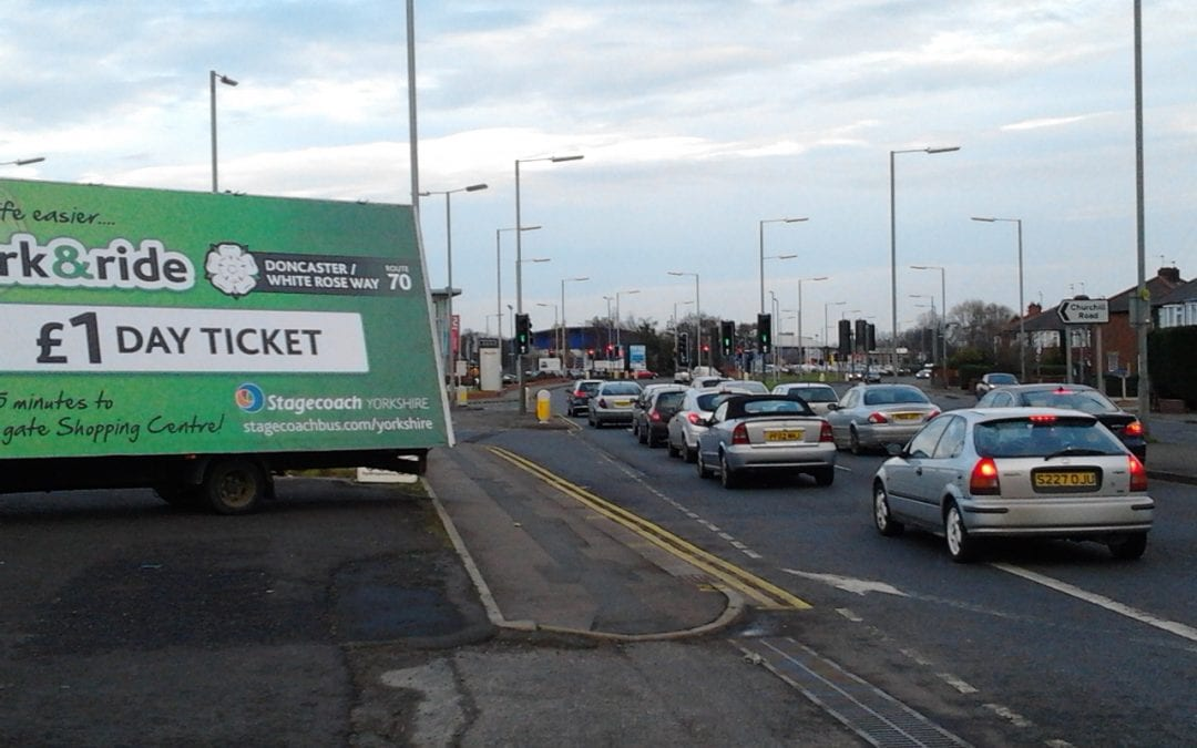Advertising Van promoting Stagecoach Doncaster
