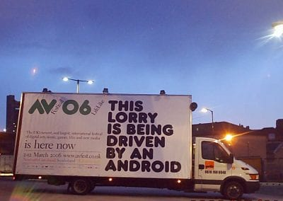 Mobile Billboard AV Festival Gateshead