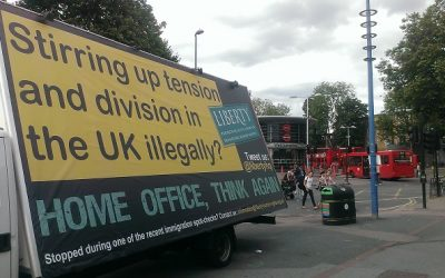 Liberty hits back against Home Office's racist AdVan