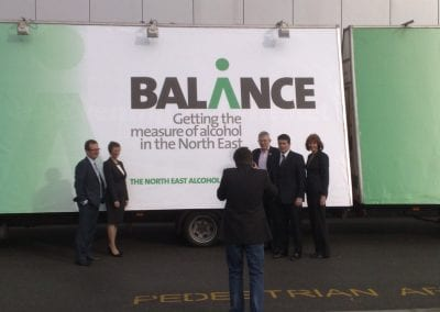 Mobile Advertising Vehicles Alcohol Balance North East PR Launch