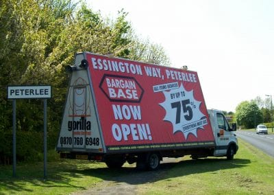 Advertising Vehicle Bargain Base Peterlee