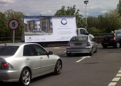 Van Advertising Barratt Homes Cheshire