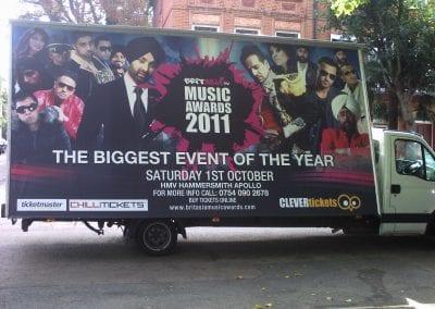 Poster Van BritAsia TV London