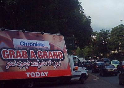 Advertising Van Evening Chronicle Newcastle