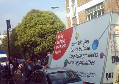 Advertising Van Construction Recruitment London