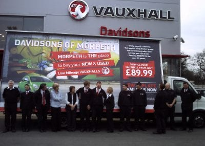 Advertising Van Vauxhall Northumberland