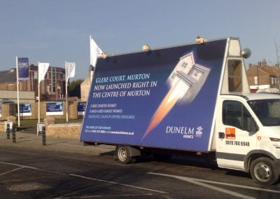 Advertising Vehicle promoting Dunelm Homes Lancashire