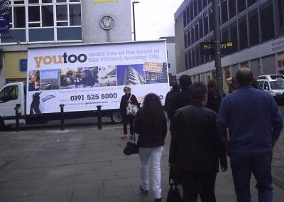 Advertising Van Gentoo Sunderland