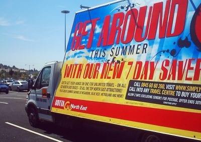 Advertising Van Go North East North Tyneside