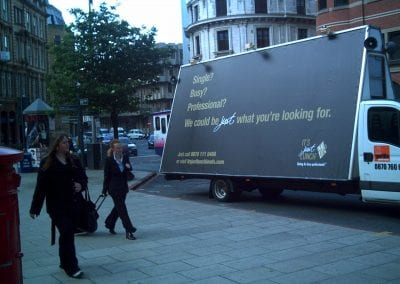 Van Adverting Just Lunch Leeds