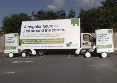 Advertising Vehicles Newcastle Building Society