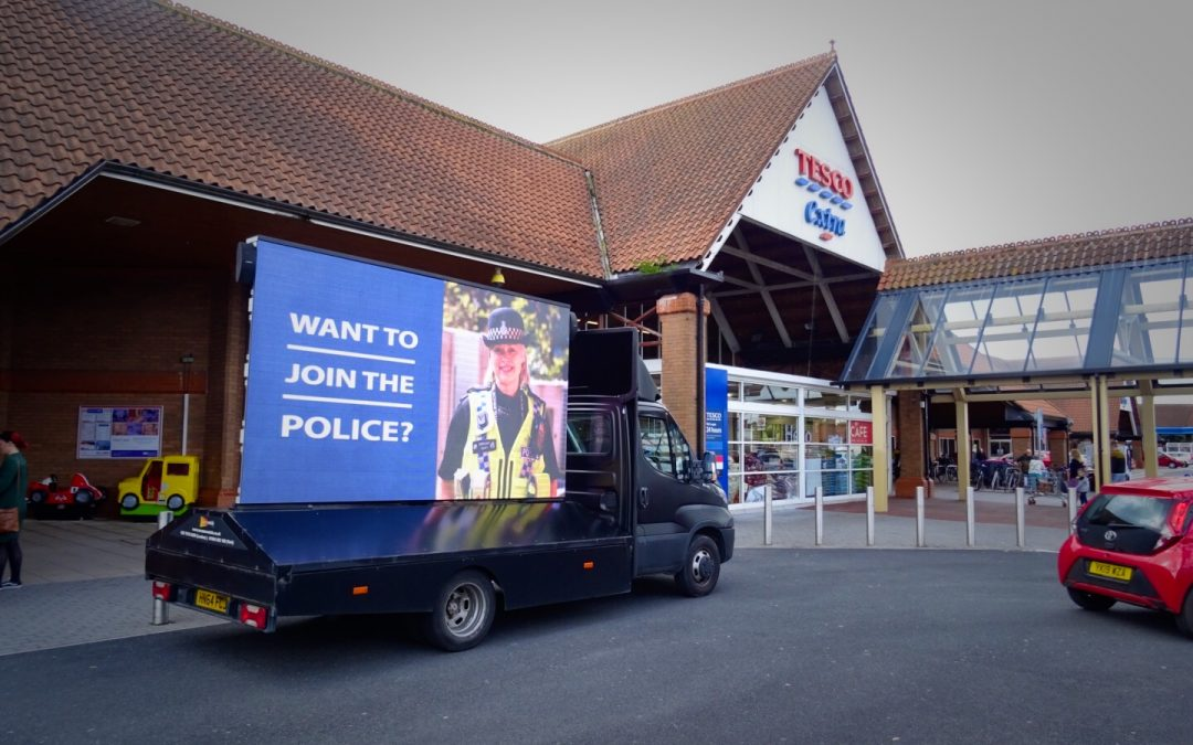 Advertising Van Police Recruitment Campaign