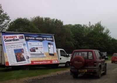 Mobile Billboard Farmers Guardian Cumbria