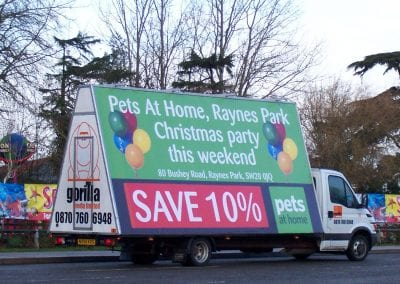 Poster Truck Advertising Pets At Home London