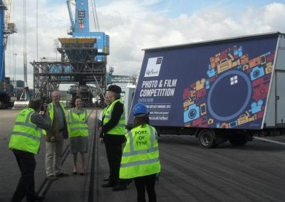 Moving Billboards Photo & Film PR Event Port of Tyne Authority South Shields