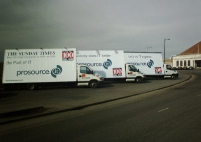 Advertising Vans promoting Sunday Times Aberdeen