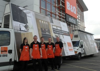 Mobile Billboard Advertising B&Q in Bolton