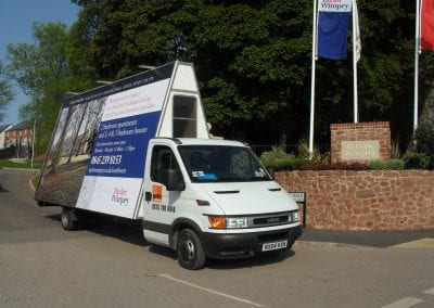 Advertising Van Taylor Wimpey Exeter