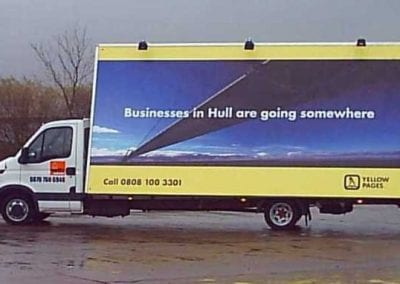 Advertising Van Yell Hull