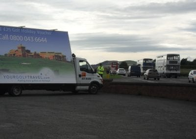 Advertising Van Your Golf Travel Scotland