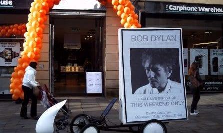 AdBike Dylan Art Exhibition Cambridge
