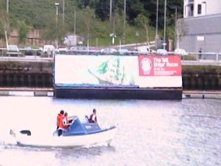 Floating billboard, AdBoat, Advertising Boat
