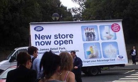 AdVan Boots Pharmacy Northampton promoting new store