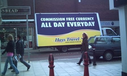 AdVan promoting Hays Travel in Middlesbrough