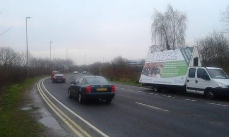 Advans publicising Orchard Homes development in Southampton