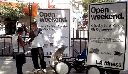 Advertising Bikes LA Fitness London