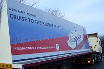 Advertising trailer for DFDS