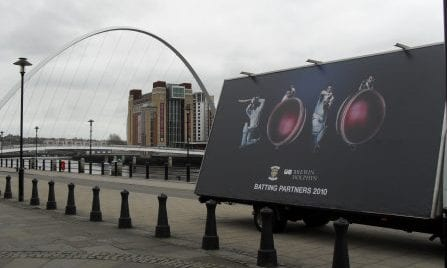 Advertising Truck promoting Durham County Cricket