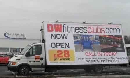 Advertising Van DW Fitness Sunderland