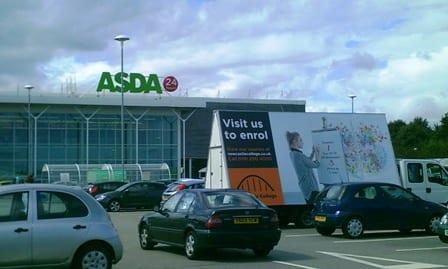 Advertising Van promoting Newcastle College