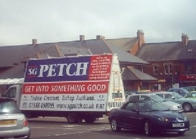 Advertising Van SG Petch County Durham