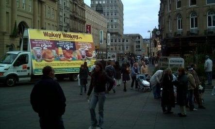 Advertising Van Subway Newcastle upon Tyne