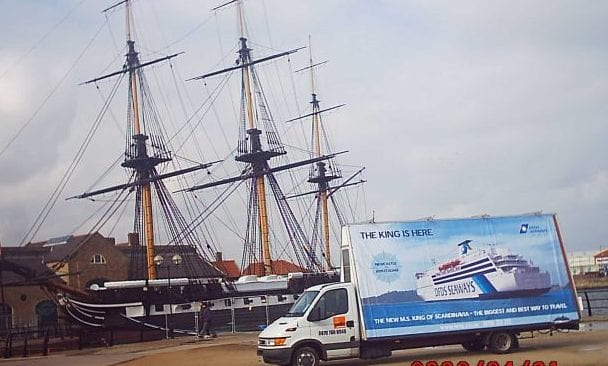 Mobile Billboard promoting DFDS Seaways Hartlepool