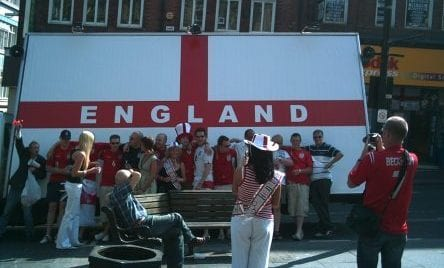 Poster Truck C'mon England