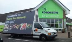 Advertising Van promoting Cooperative Food in the Isle of Lewis
